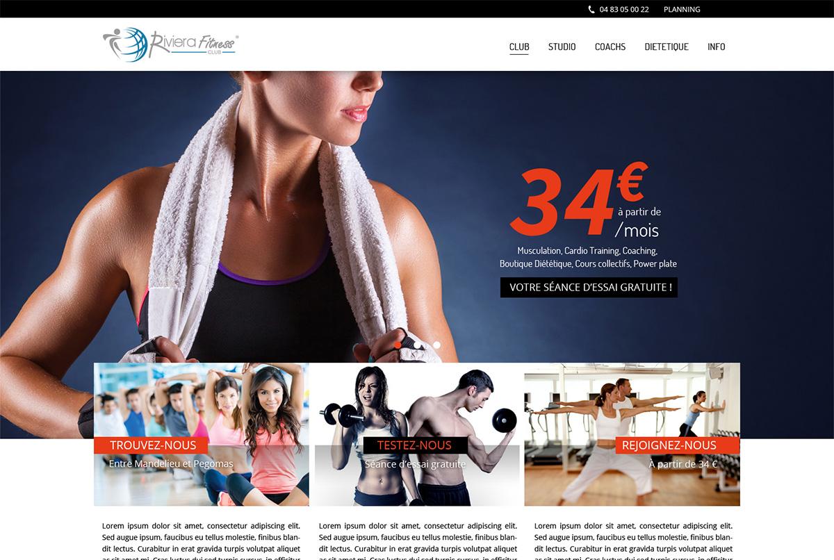 agence web antibes fitness